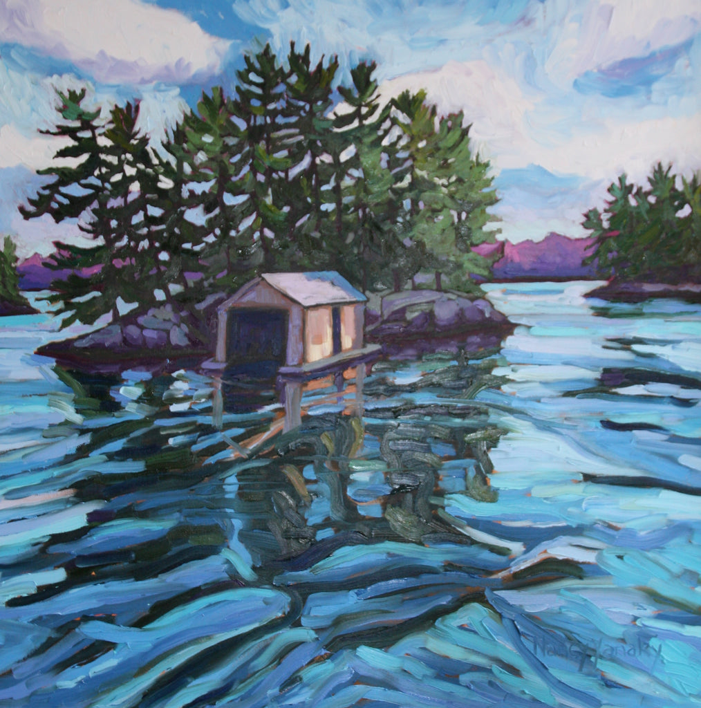 Island Boat House - Glass Art - Kingston Glass Studio - Blown Glass - Glass Blowing