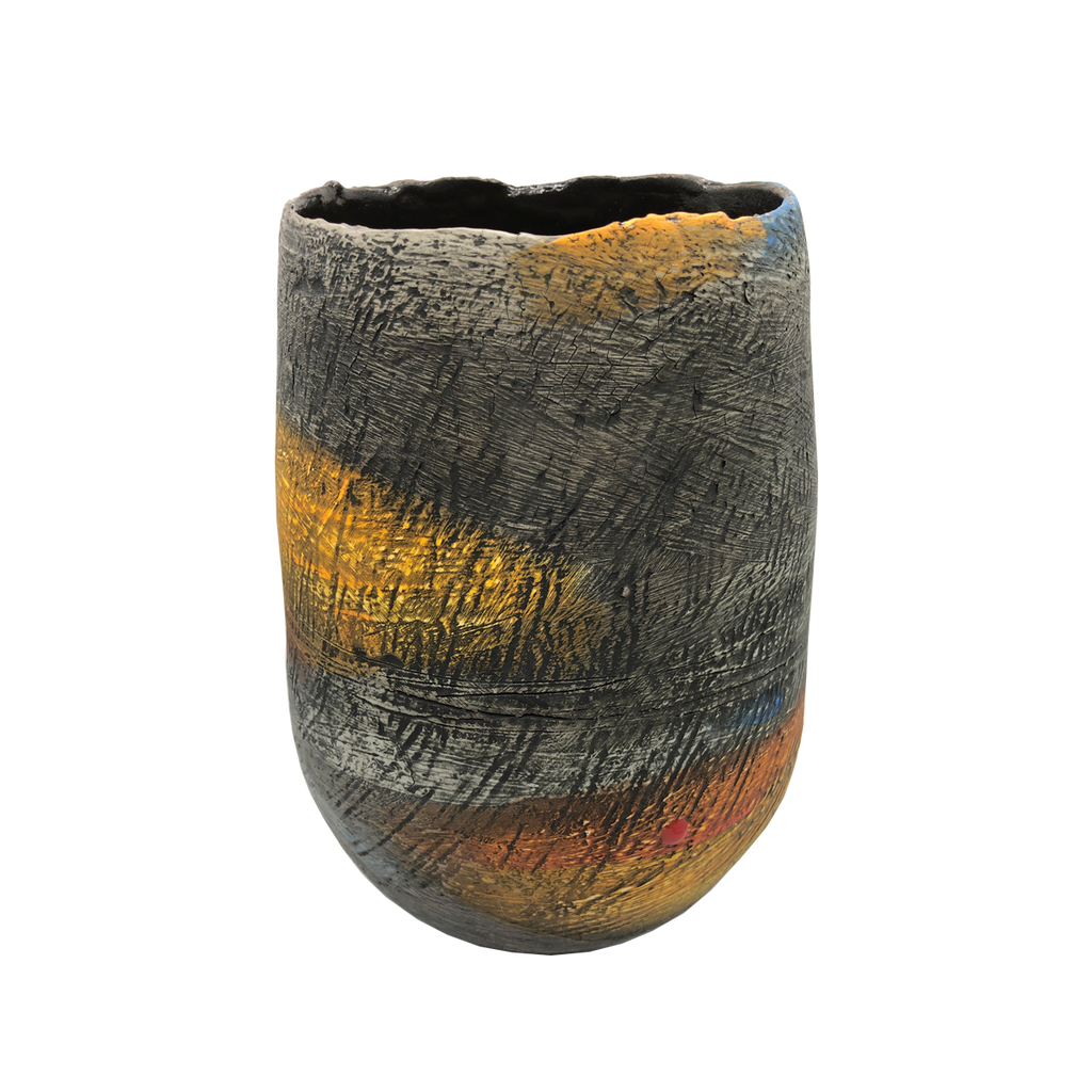 Orkney Series - Large Coiled Vessel - Glass Art - Kingston Glass Studio - Blown Glass - Glass Blowing