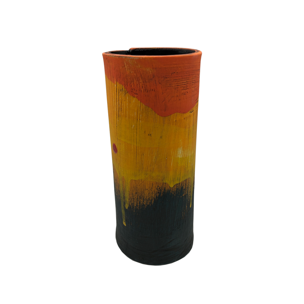 Orkney Series - Slab Vessel Sunset I - Glass Art - Kingston Glass Studio - Blown Glass - Glass Blowing