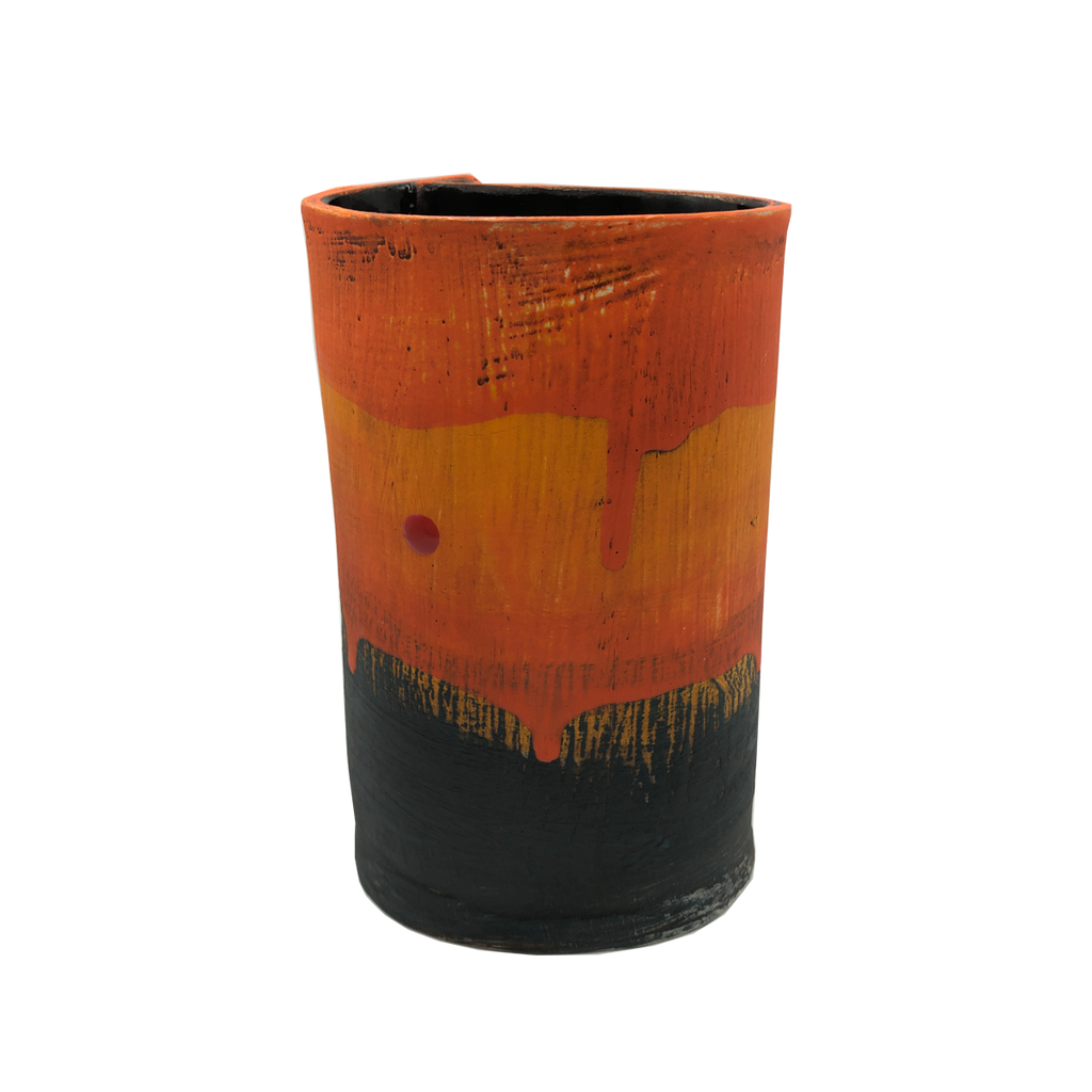 Orkney Series - Slab Vessel Sunset II - Glass Art - Kingston Glass Studio - Blown Glass - Glass Blowing