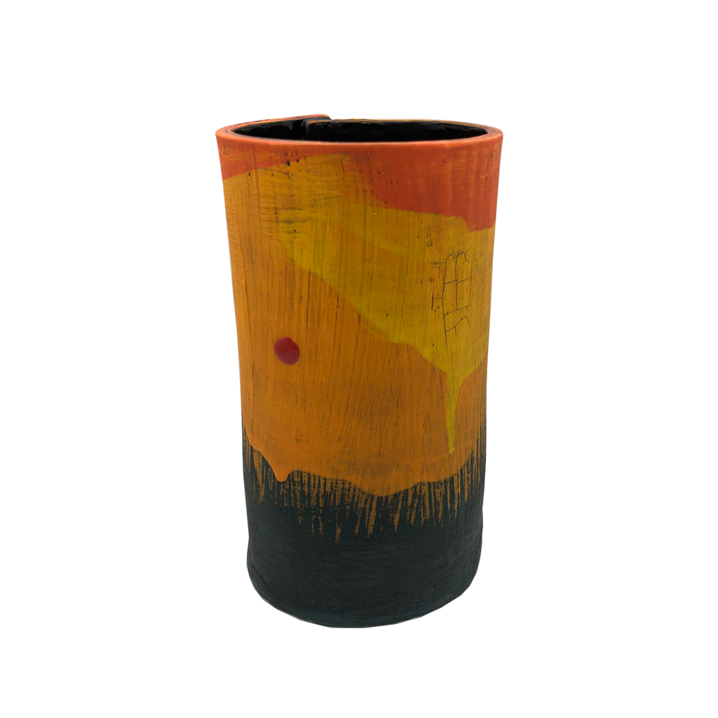 Orkney Series - Slab Vessel Sunset III - Glass Art - Kingston Glass Studio - Blown Glass - Glass Blowing