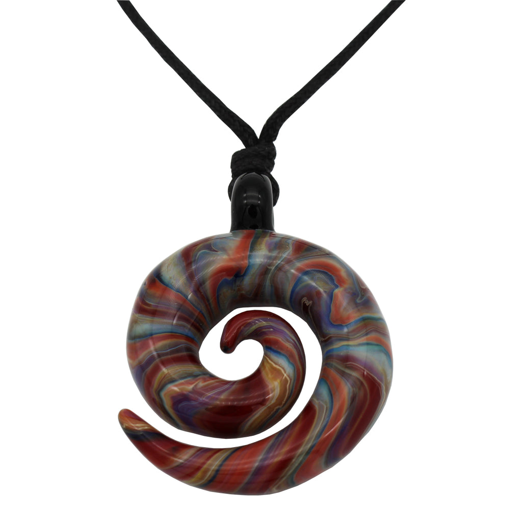 Organic Spiral Pendants - Glass Art - Kingston Glass Studio - Blown Glass - Glass Blowing