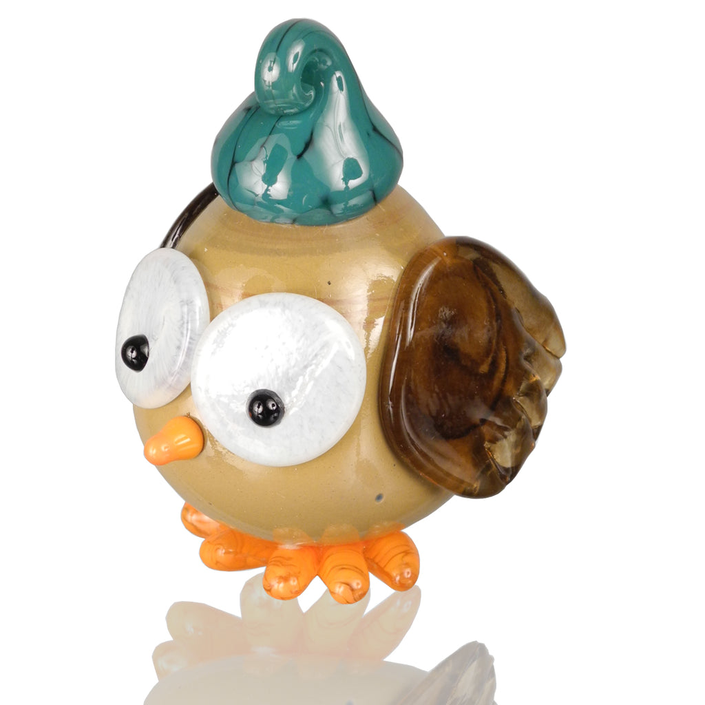 Owlet Ornament - Glass Art - Kingston Glass Studio - Blown Glass - Glass Blowing