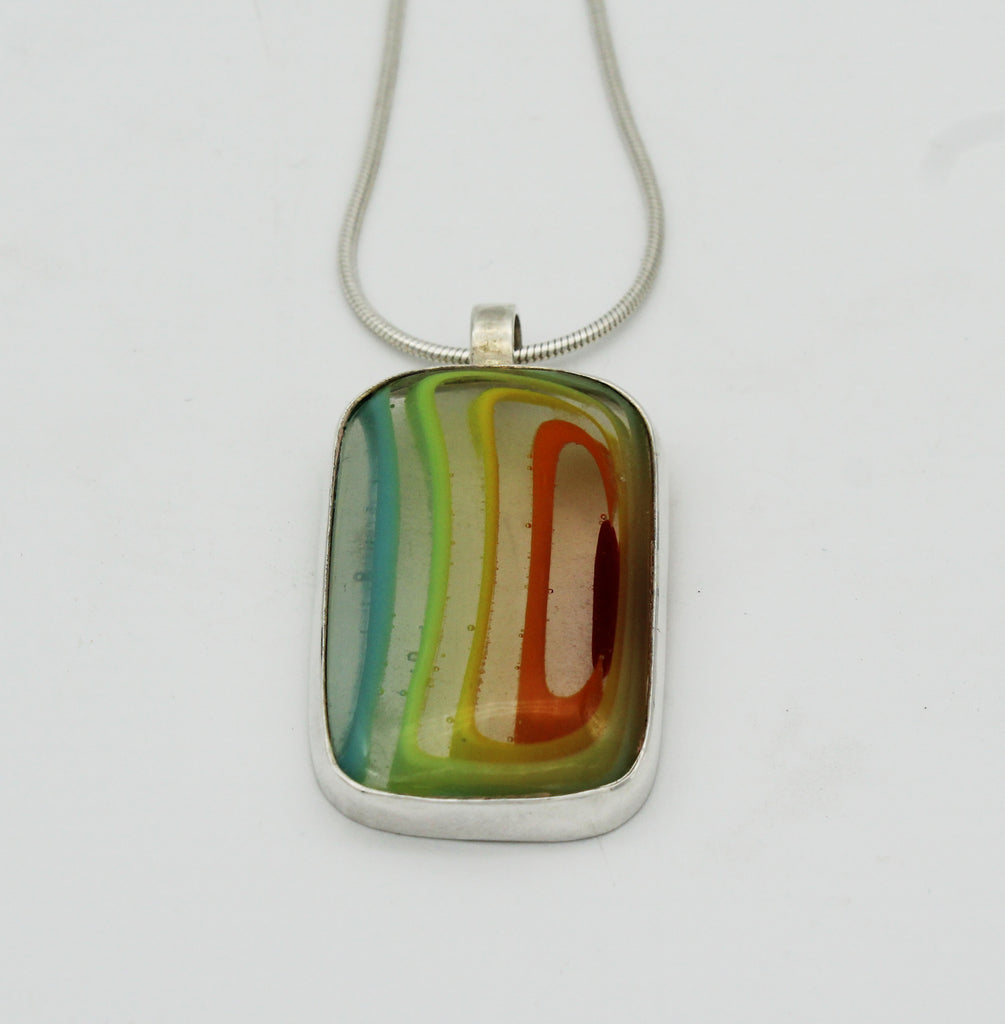 Pendant Necklace - Glass Art - Kingston Glass Studio - Blown Glass - Glass Blowing