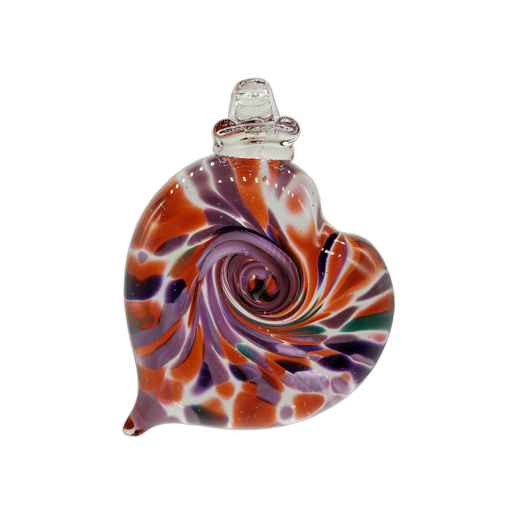 Heart Ornament - Glass Art - Kingston Glass Studio - Blown Glass - Glass Blowing