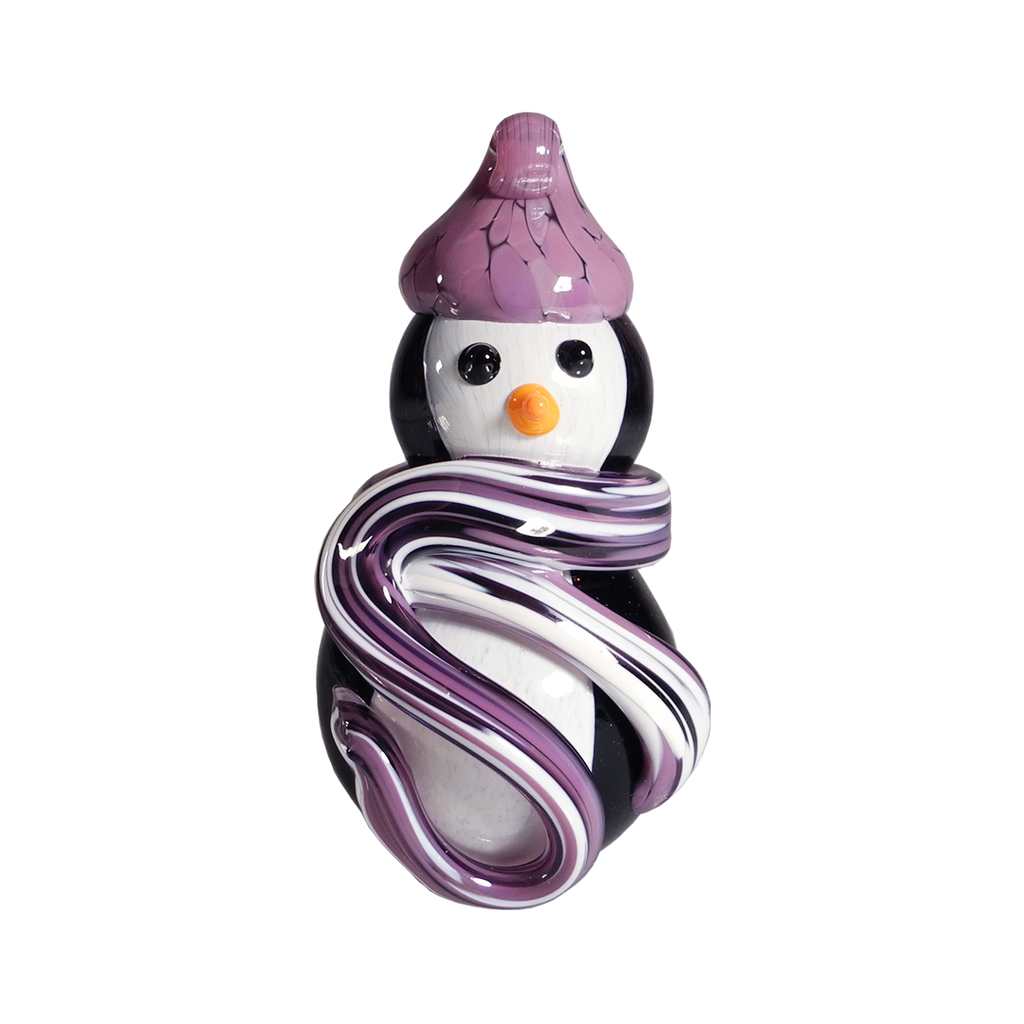 Snow Penguin Ornament - Glass Art - Kingston Glass Studio - Blown Glass - Glass Blowing