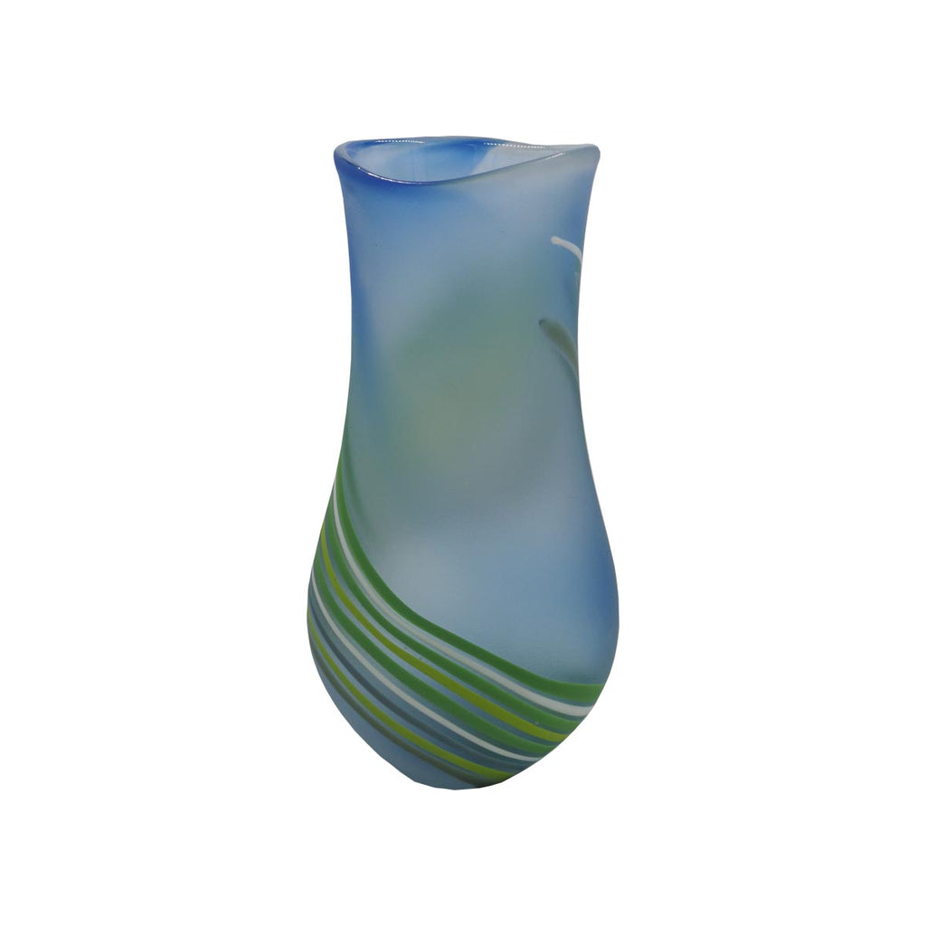 Stripe Vase - Glass Art - Kingston Glass Studio - Blown Glass - Glass Blowing