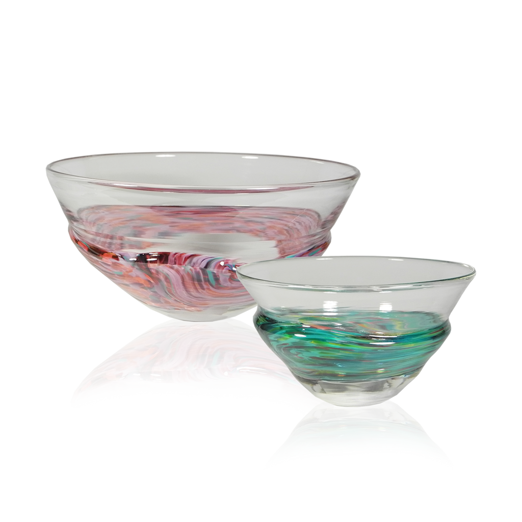 Wrap Bowls - Glass Art - Kingston Glass Studio - Blown Glass - Glass Blowing