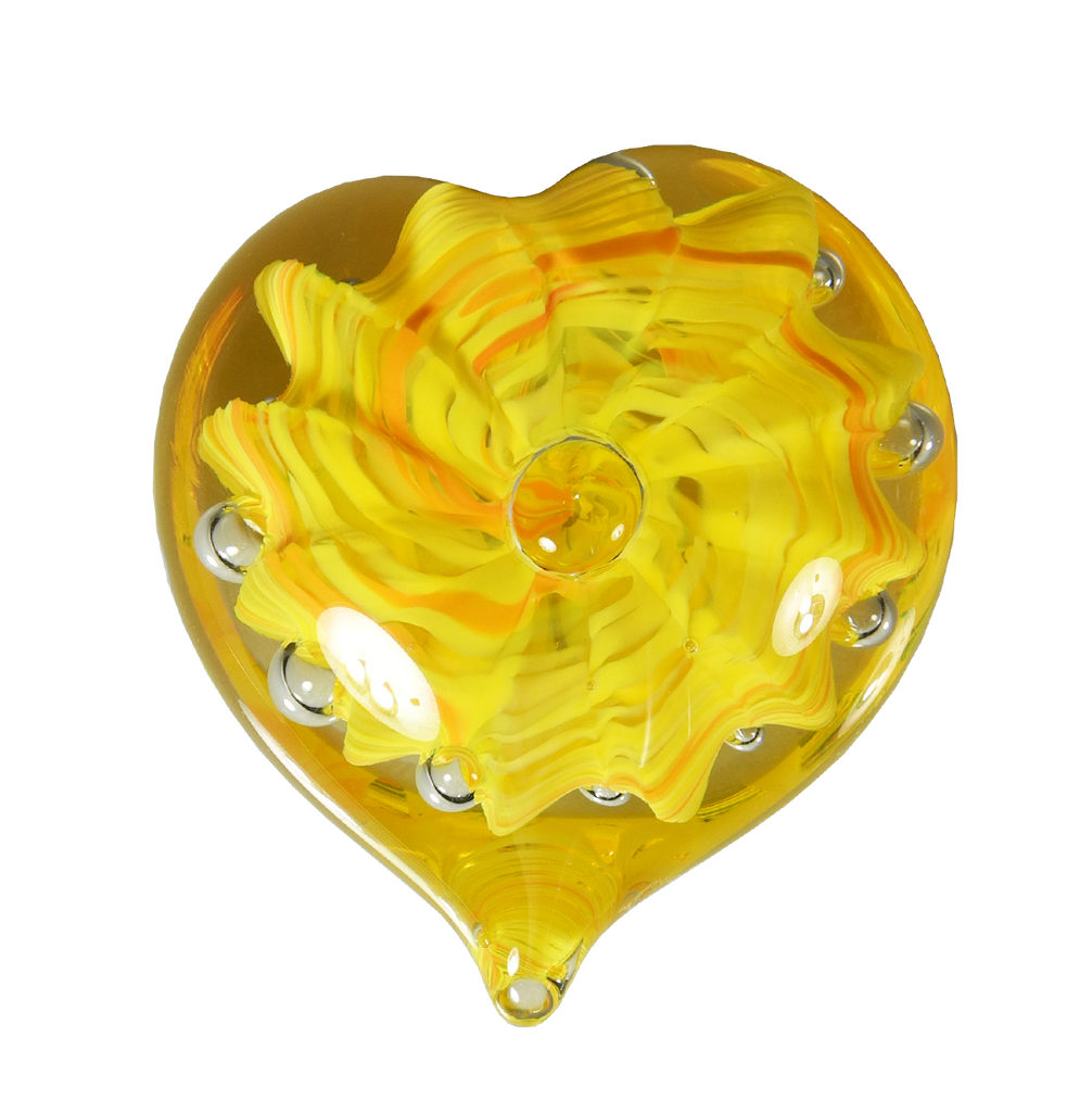 Bubble Heart - Glass Art - Kingston Glass Studio - Blown Glass - Glass Blowing