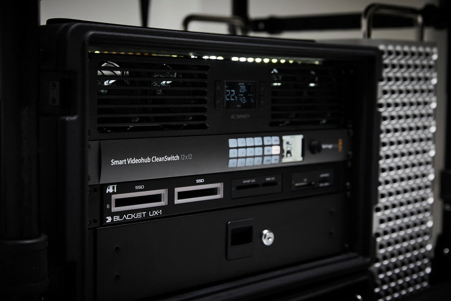 Blackmagic 12x12 Cleanswitch VideoHub and Blackjet UX-1 Now available for Hire