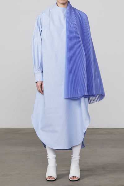 OXFORD PLEATED SHIRT DRESS