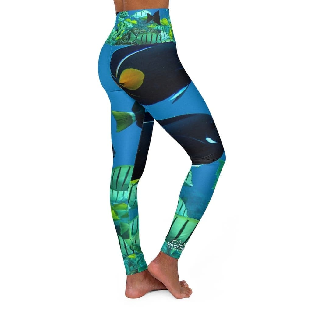 Tropical High Waisted Yoga Leggings