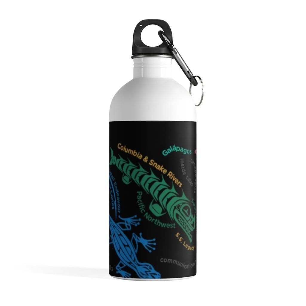 Destinations Black Stainless Steel Water Bottle