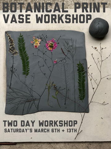 Botanical Print Two Day Vase Workshop