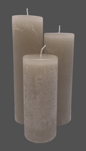 Load image into Gallery viewer, Dalina flower candle | stone gray | ~ 130h burning time