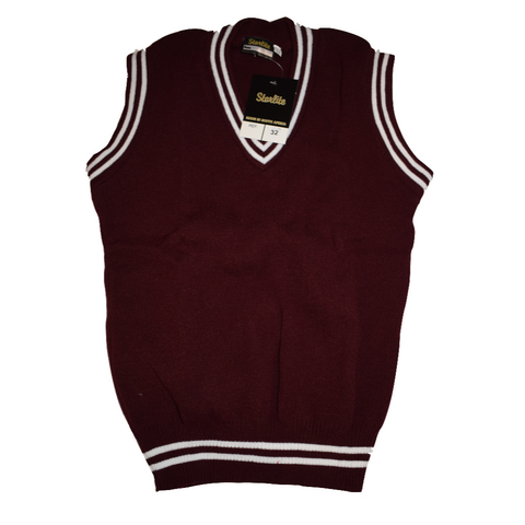 Maroon & White Pullover