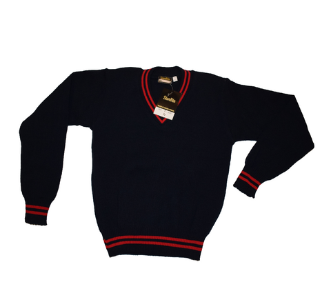 Navy Blue & Red Jersey