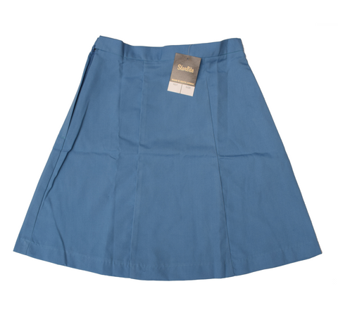 Plain 6 Panel Sky Blue Skirt