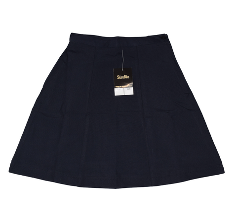 Plain 6 Panel Navy Blue Skirt