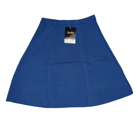 Plain 6 Panel Royal Blue Skirt