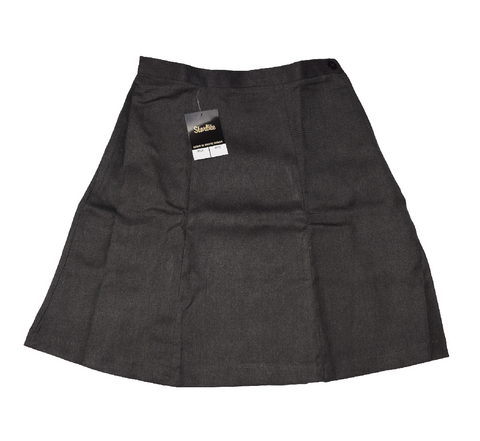 Plain 6 Panel Serge Grey Skirt