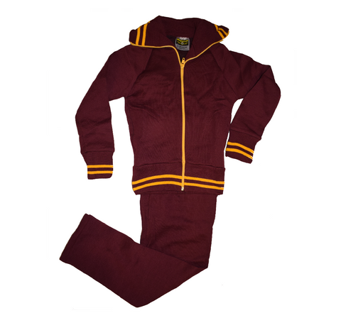 Maroon & Gold Tracksuit
