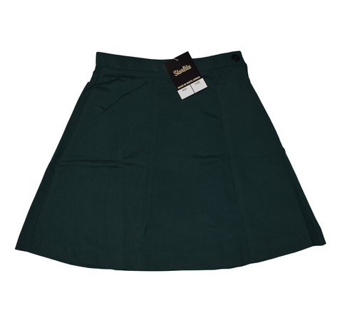 Plain 6 Panel Bottle Green Skirt