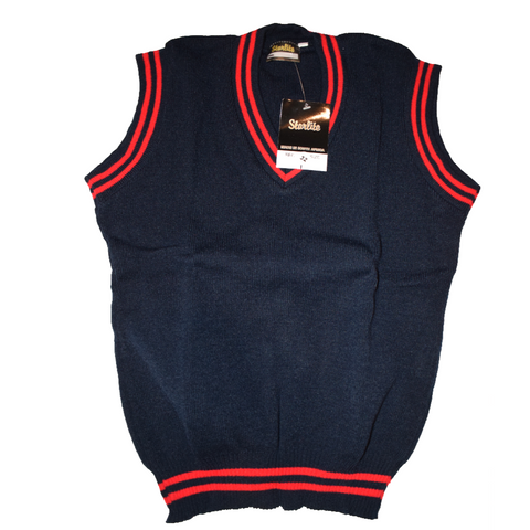 Navy Blue & Red Pullover
