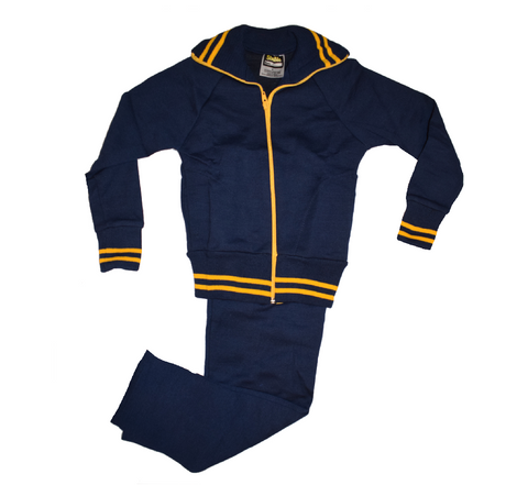 Navy Blue & Gold Tracksuit