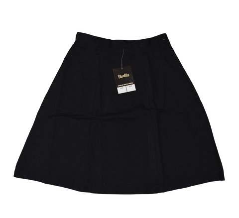 Plain 6 Panel Black Skirt