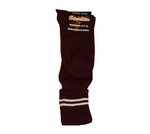 Maroon & White School Socks