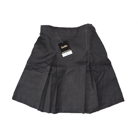 Pleated Serge Grey Skirt