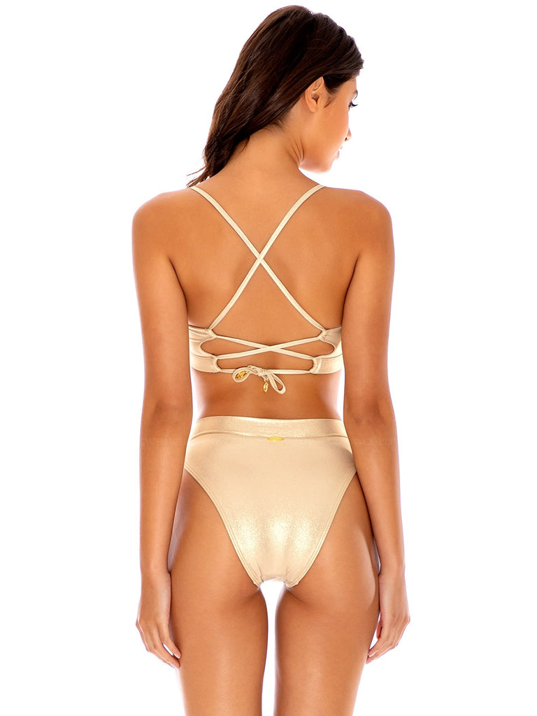 LULI FAMA COSITA BUENA UNDERWIRE TOP & RIVERSIBLE ZIGZAG OPENSIDE MODERATE BOTTOM
