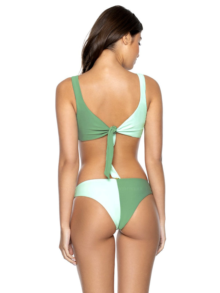 PQ SWIM Two Tone Tie Halter-Two Tone