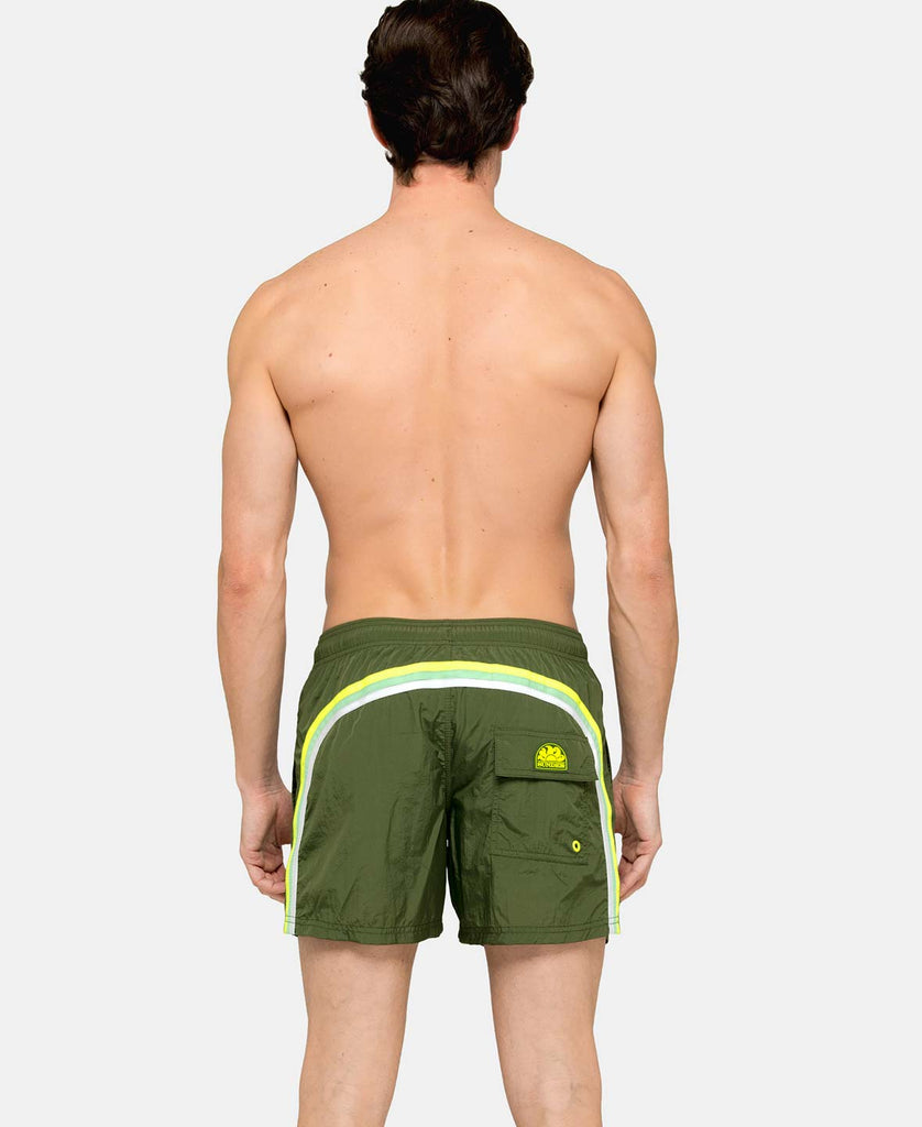 SUNDEK ELASTIC WAIST SWIM TRUNKS