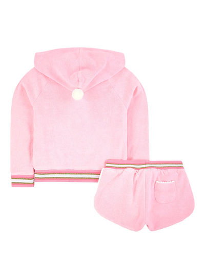 SUNUVA Girls Pom Pom Detail Jacket and Shorts Set