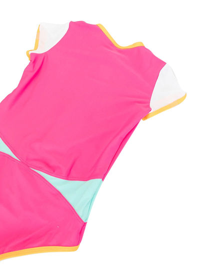 SUNUVA Girls Colourblock One-Piece Swimsuit