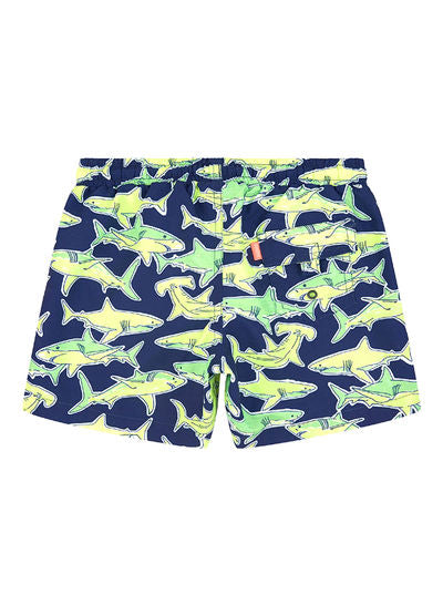 SUNUVA Boys Shark Print Swim Shorts