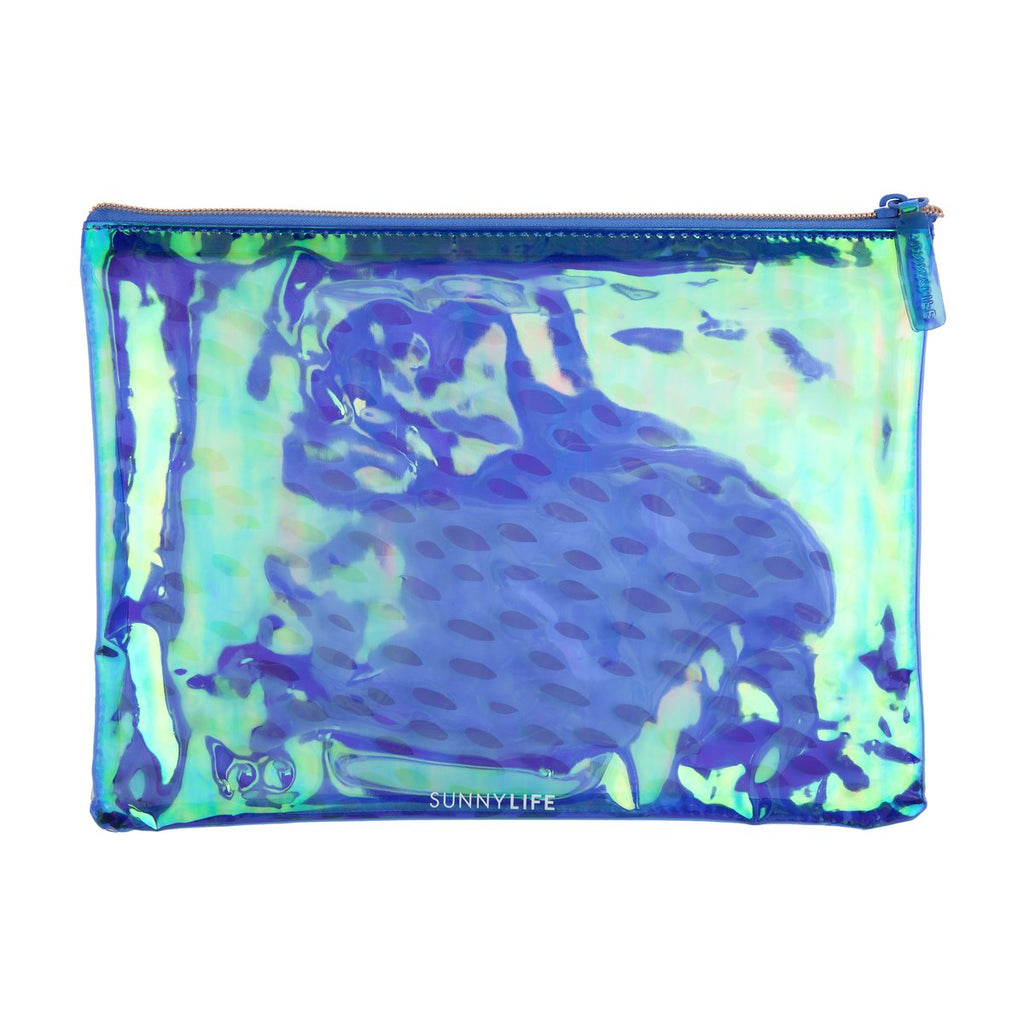 SUNNYLIFE SEE THRU POUCH ELECTRIC BLOOM