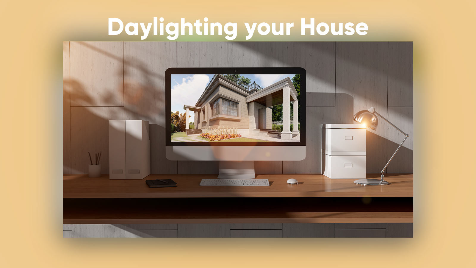 Daylighting home studio for higher productivity