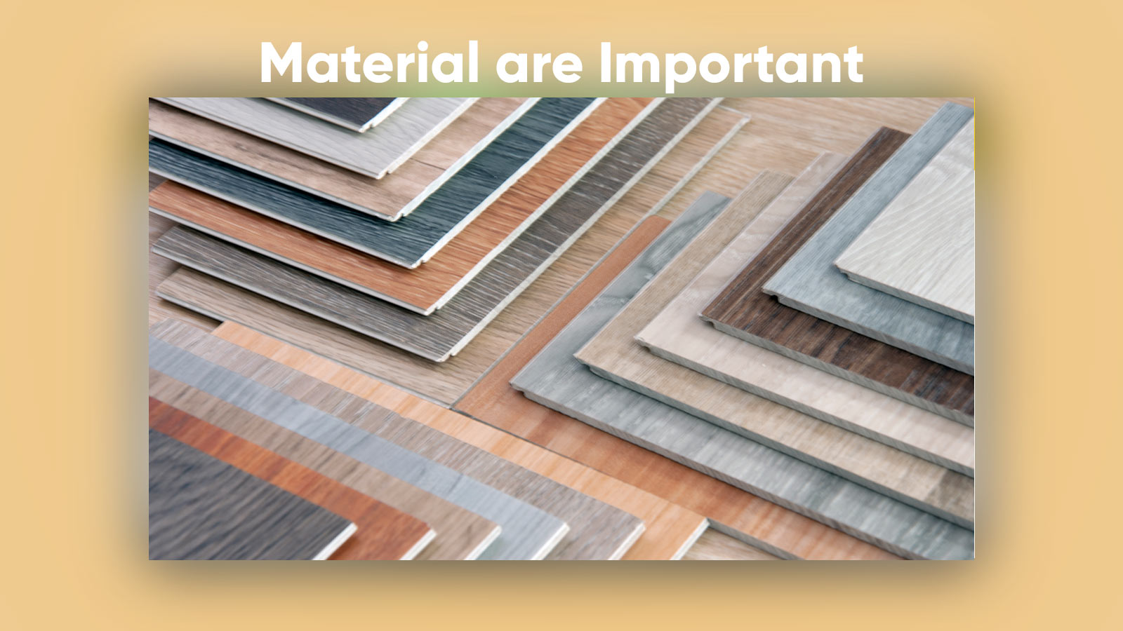 Material Swatches for House Design Process