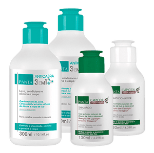 Kit 2 Panta Anticaspa 300ml + 1 Mini Kit Capicidil 130ml (Bônus)