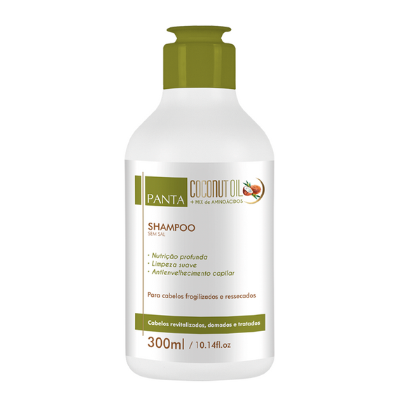 Coconut Oil + Mix de Aminoácidos Shampoo 300ml