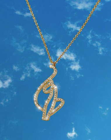 Kitty logo chain necklace