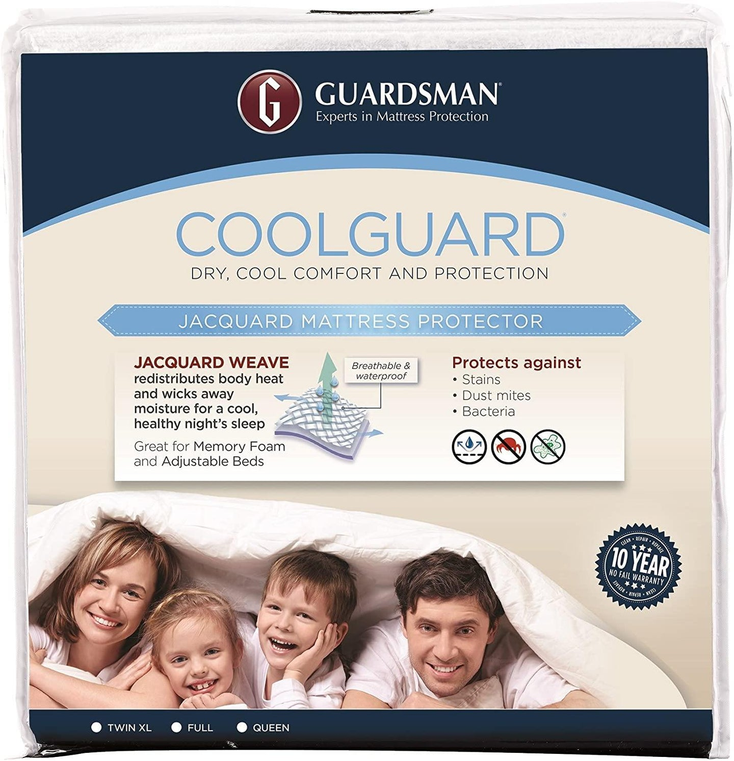 Guardsman Cool Guard Mattress Protector - Discount Mattress Co