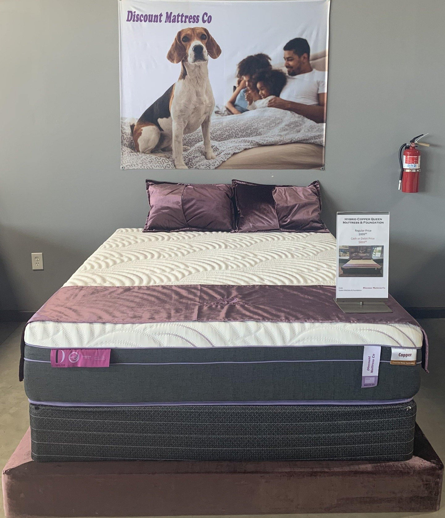 Hybrid Copper Mattress and Foundation - Discount Mattress Co