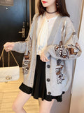 Ladies Embroidered Knitted Cardigan Sweater Coat Thick