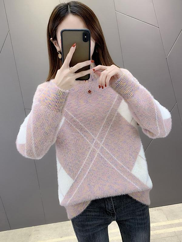 Thick Sweater Women'S Pullover Sweater Loose Bottoming Shirt