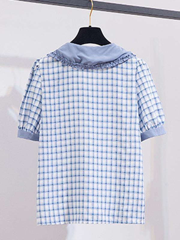 2021 New Plaid Retro Shirt Dress Two-piece - Anngy