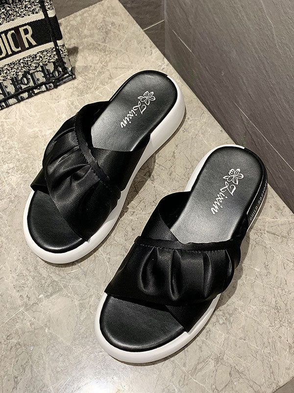 New Fashion Thick Bottomed One Line Slippers